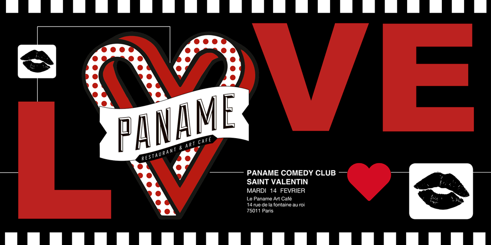 Menu Saint Valentin - Paname Comedy Club